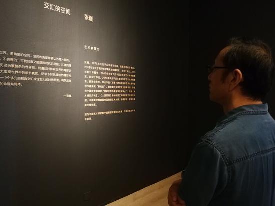中国艺术研究院院长连辑先生观看展览