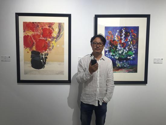 艺术家 张春华 接受媒体采访