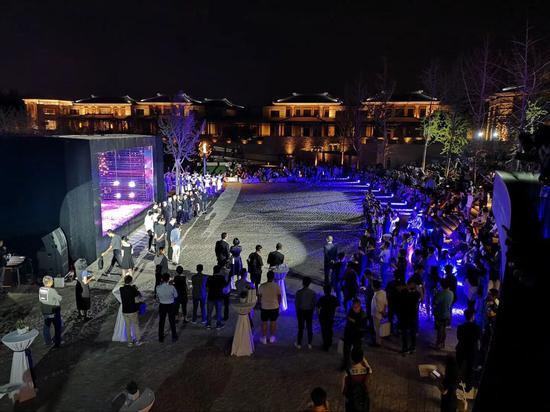 沉浸式表演-游园观唐 现场