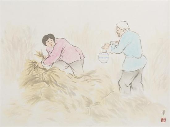 武艺 《秋忙》 纸本水墨 34.5×46cm 2016