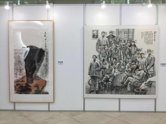 展览现场_徐谷安 杨宏富作品