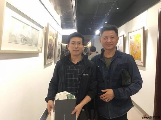 研究会画家徐仲芳先生和画家张春生先生