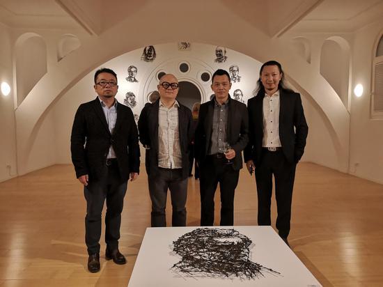 特邀批评家武洪滨教授、艺术家艾松、艺术家雷子人、执行策展人张思永