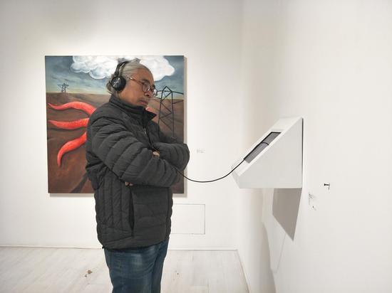 艺术家马可鲁老师观看动画作品