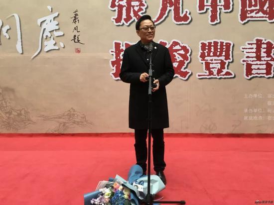 中国画学会副会长、江苏省中国画学会会长高云讲话