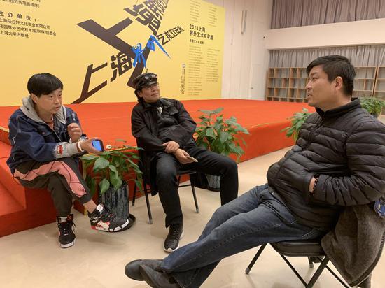黄药与著名艺术批评家朱其交流