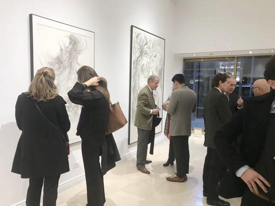 林国成纽约展览现场