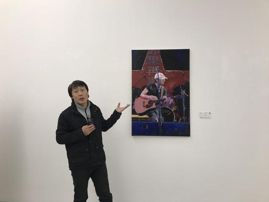 艺术家薛方明 接受媒体采访