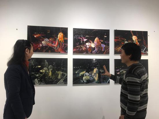 艺术家薛方明、策展人、汉威国际艺术中心馆长张思永