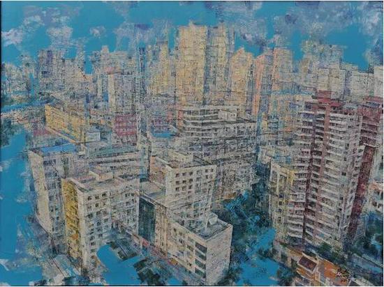 张杰《空城记》200cm×160cm 油画 2017