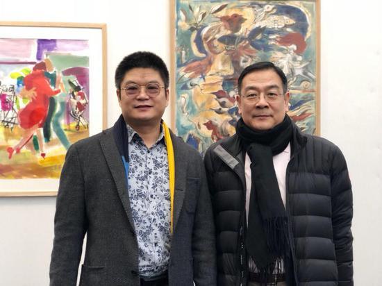 王清州和中国驻法使馆文化参赞李少平先生