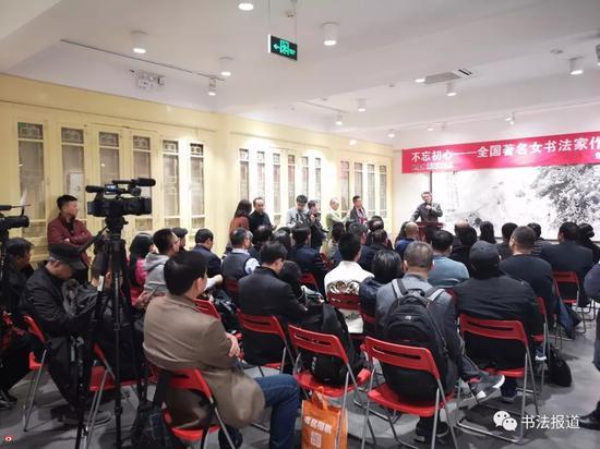 全国著名女书法家作品邀请展在北京琉璃厂西街泰文楼开幕