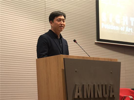 本次展览中方策展人、南京艺术学院美术馆副馆长郑闻先生
