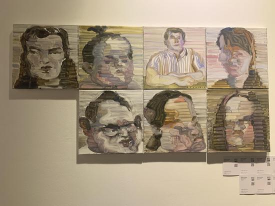青年艺术家江上越展出作品