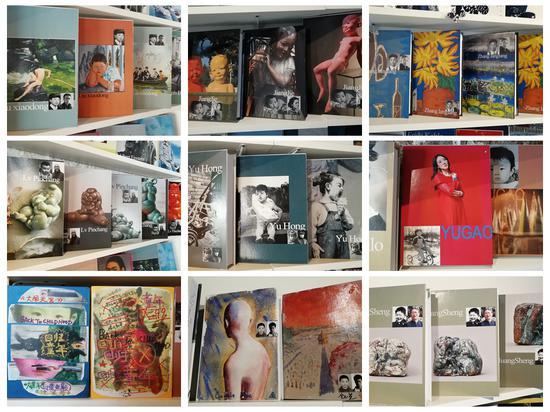 艺术丛书(左上角起:刘小东、姜杰、张郎郎、吕品昌、喻红、喻高、陈曦、金小尧、黄胜)