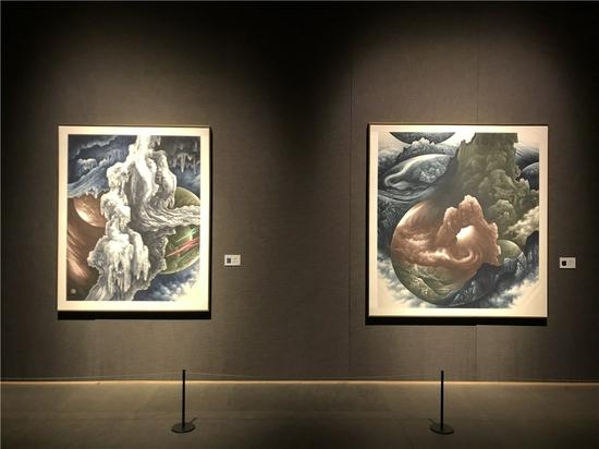 墨道之維:姬子繪畫展在山東美術館開展