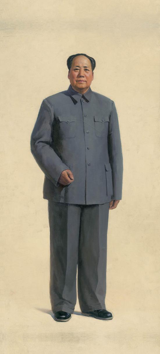 靳尚谊《毛主席全身像》,布面油画,262x137cm,1966 ??泰康收藏TAIKANG COLLECTION