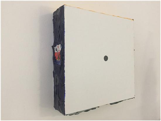 《我不审判任何人》综合绘画,30x30cm,2018