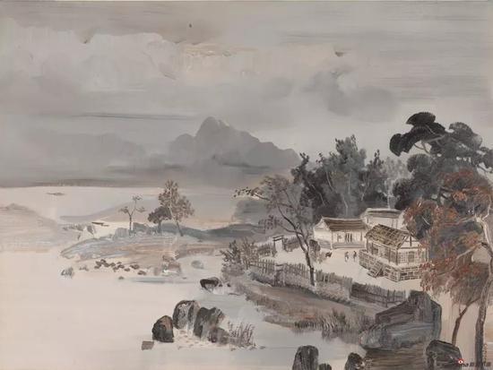 《家园》 120cm x 90cm 徐 里 江苏省中国画学会顾问