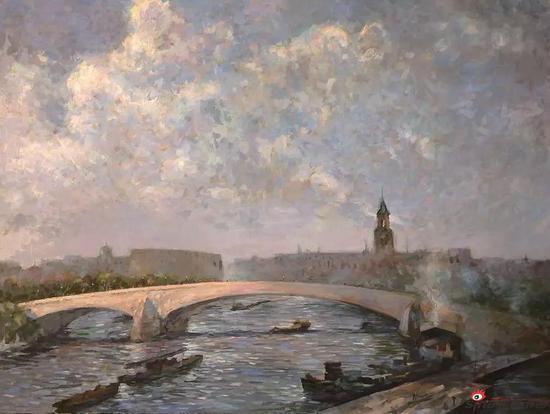 《苏州河畔》60x80cm 油画