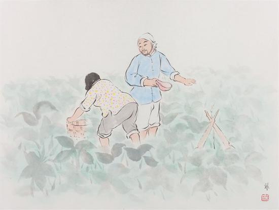 武艺 《春露之一》 纸本水墨 34.5×46cm 2016