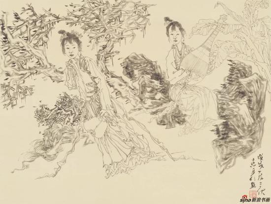 徐惠泉 绢本 册页十 34cmx45cm 2018年