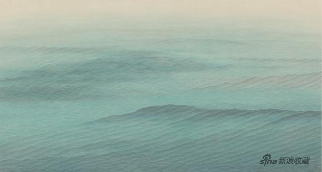 水图·镜湖 52×97cm 纸本水墨设色 2018