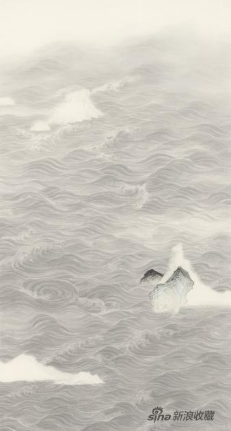 水图·小山 180×97cm 纸本水墨 2019