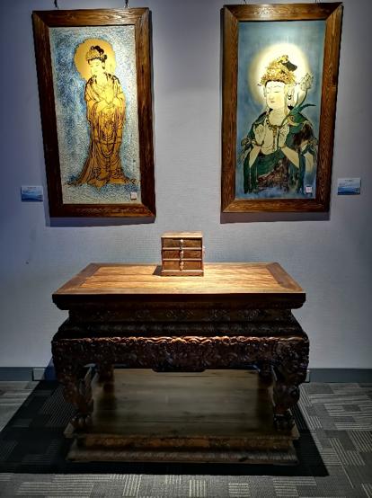 秀木林 清式龙纹雕供桌