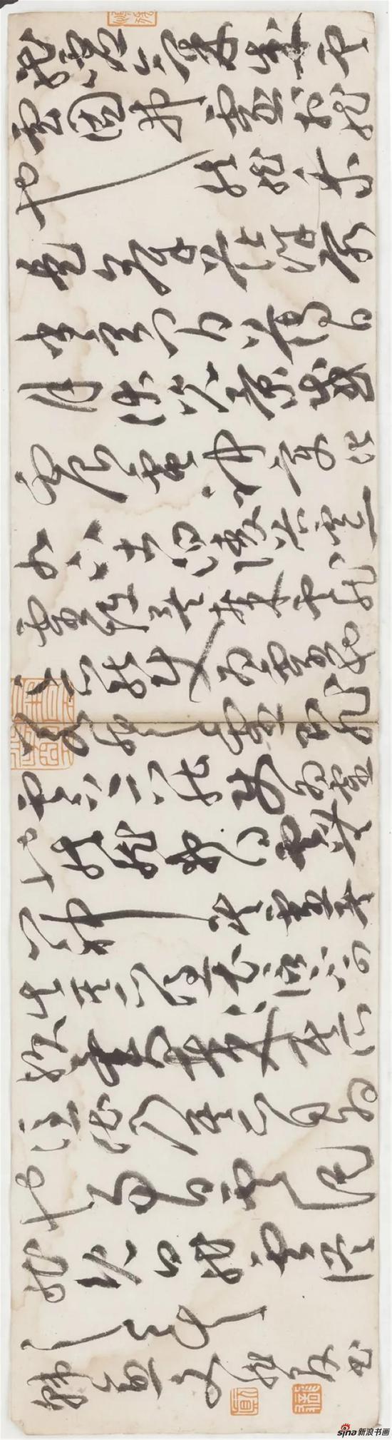 《韩愈杂说一篇》,草书,纸本,47×12cm,2018年