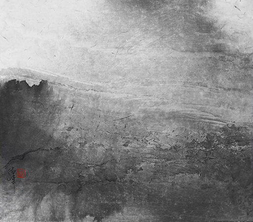 林依峰作品  秋水  纸本水墨  25x29cm  2017年
