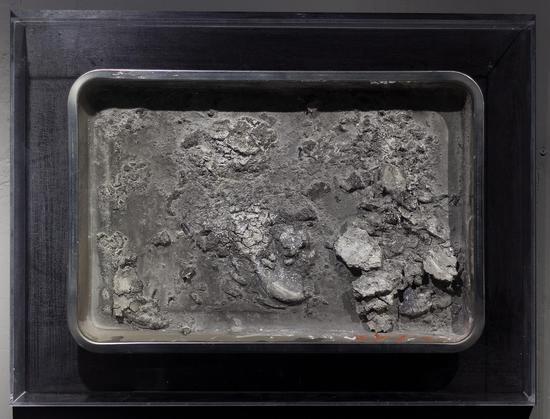 翟一涛《长安-记2》40x60cm,综合材料,2016年