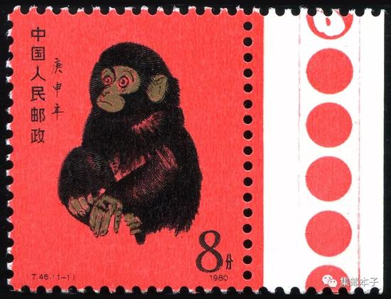 """""""猴票""""创造了世界性的邮票增值神话"""