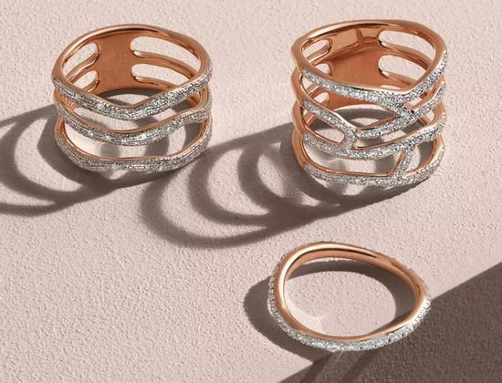 Monica Vinader Riva 瀑布系列钻石戒指