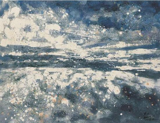 张杰《天机》之一130cm×100cm 油画 2008