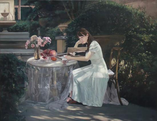 张京琼  【迷】 140x180cm  布面油画   2017