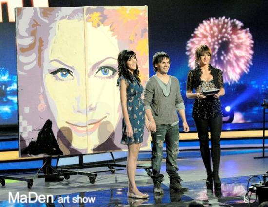 《乌克兰达人秀4》其中一场竞演丹尼斯和妻子一同表演
