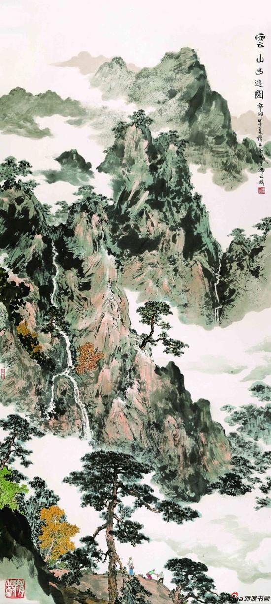 云山幽游图 234cm×105cm 2011年