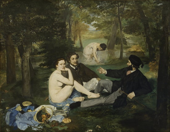 《草地野餐(Luncheon on the Grass)》(1863)马奈