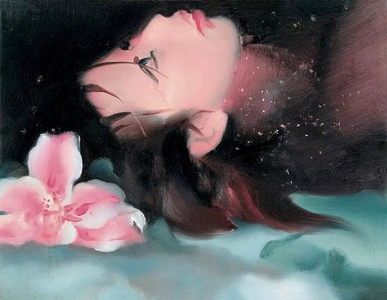 《这就是我的生活之06-02-23》 2006年 布面油画 27×35cm。