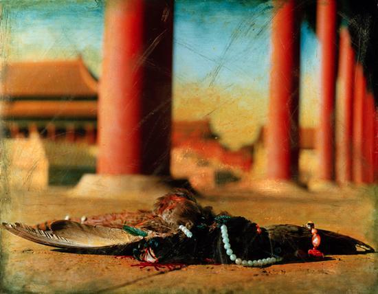 洪磊《紫禁城的秋天(太和殿东回廊)》摄影 1997
