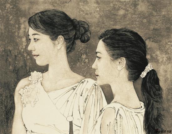 高云作品《江南好》(局部)200X120CM入选中国国家画院30周年庆典大展