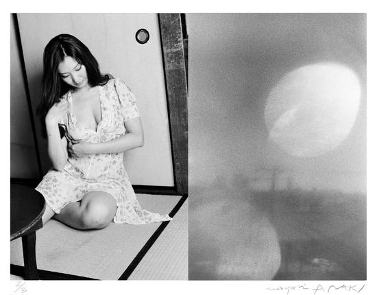 荒木经惟(b.1940) 左眼之恋   铂金 相片   2016年作