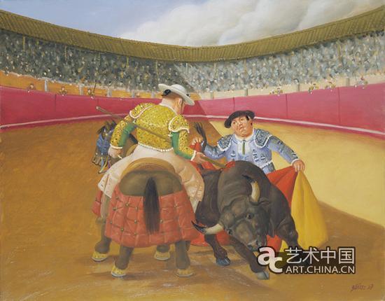 矛刺(1997),布面油画