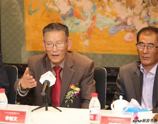 朝鲜人民艺术家李相文发言