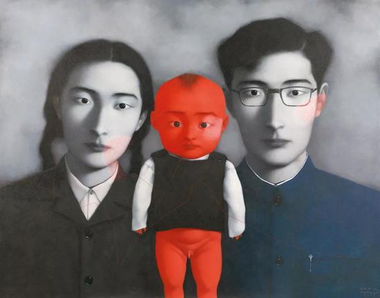 张晓刚 血缘:大家庭1号   1996年   布面 油画   149×189.5 cm   成交价:RMB 40,250,000