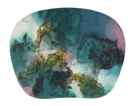 梦里家山之一百零一 30cm×40cm 纸本设色 2018
