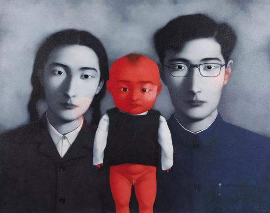 张晓刚《血缘:大家庭1 号》   1996 年   布面 油画149×189.5 cm
