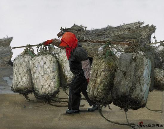 《渔歌》系列之三 布面油画 200cmx250cm/2017年