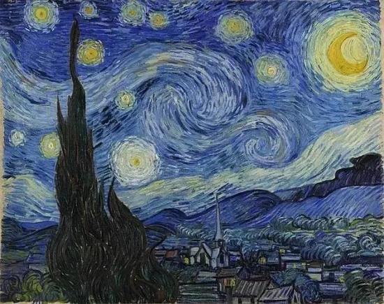 梵高代表作《星月夜》